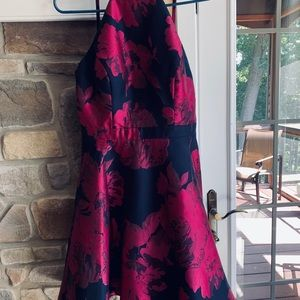 Xscape Navy and magenta dress sz 6 Nordstrom